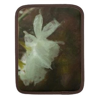 White Daffodils Floral Impressionist iPad Sleeve