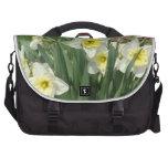 White Daffodils Laptop Computer Bag