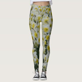 White Daffodils Legging