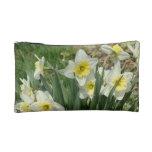 White Daffodils Makeup Bag