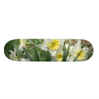 White Daffodils Skate Board Decks