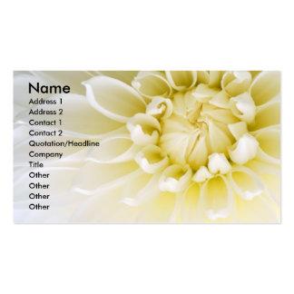 White Dahlia Business Card Templates
