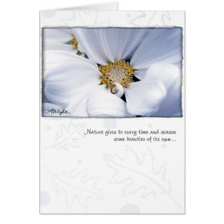 White Dahlia by Anna Wight Greeting Card