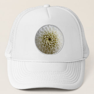 White Dahlia Close-up Trucker Hat