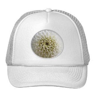 White Dahlia Close-up Trucker Hat
