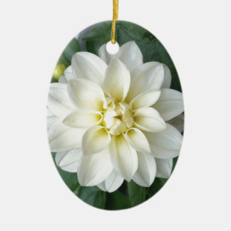 White Dahlia Christmas Tree Ornament