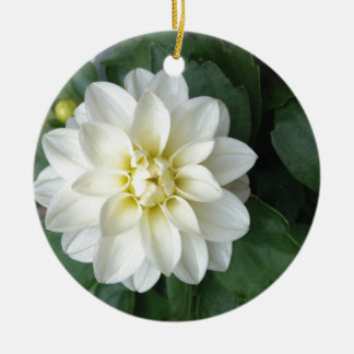 White Dahlia Ornament