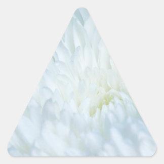 White Dahlia Petals Triangle Sticker