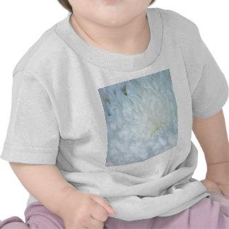 White Dahlia Petals Tee Shirt