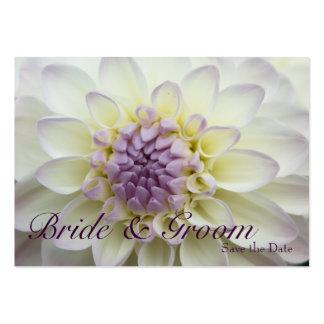 White Dahlia • Save the Date Mini Card Business Card
