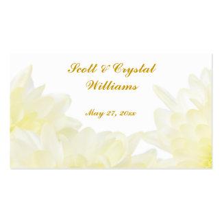White Dahlia Wedding Favor Card Business Cards