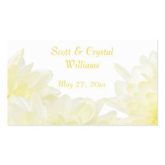 White Dahlia Wedding Favor Card Business Card