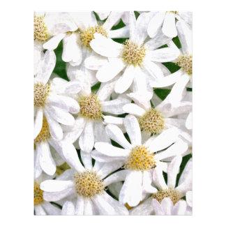 White dahlias letterhead