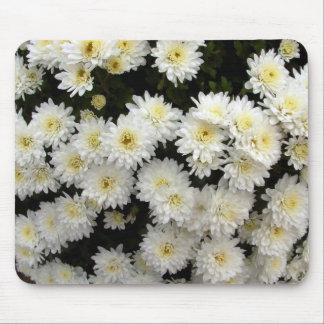 white dahlias mouse pad