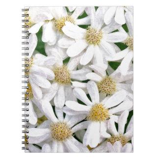 White dahlias notebook