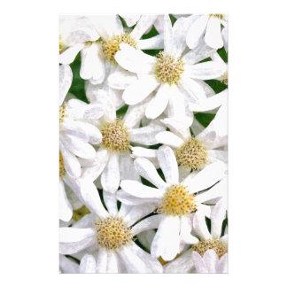 White dahlias stationery
