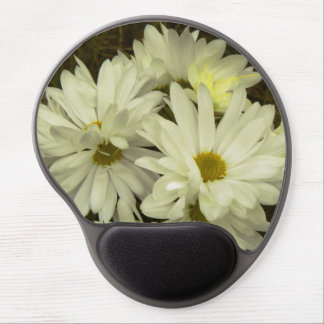 White Daisies 1 Gel Mouse Pad