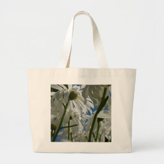 White Daisies Canvas Bags
