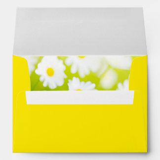 White Daisies - Celebrate Love Wedding Envelope