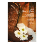 White Daisies Cowboy Boots Post Wedding Brunch 5x7 Paper Invitation Card