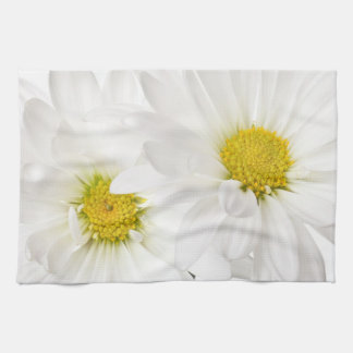 White Daisies - Customized Daisy Flower Template Kitchen Towel