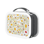 White Daisies Cute Red Ladybugs Garden Lunchbox