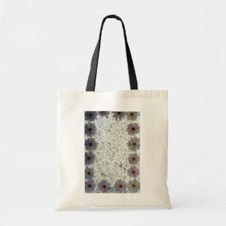 white Daisies flowers Budget Tote Bag
