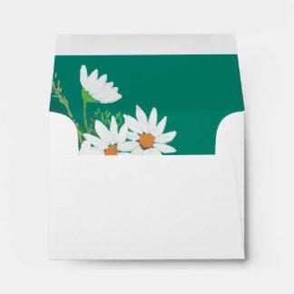 White Daisies in Terra Cotta Envelope