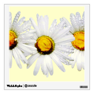 White Daisies in the Rain Wall Decal