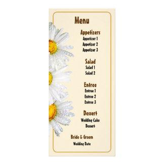 White Daisies in the Rain Wedding Menu