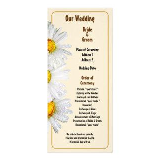 White Daisies in the Rain Wedding Program