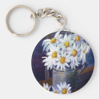 White daisies keychains