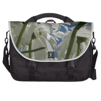 White Daisies Laptop Bags