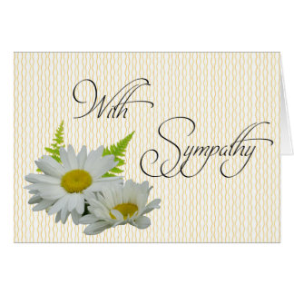 White Daisies Large Font Sympathy Card