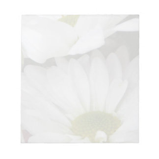 White Daisies-Muted Floral Scratch Pad