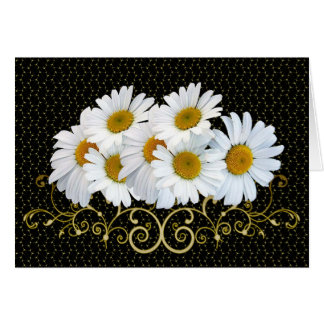 White Daisies Note Card