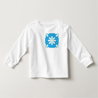 White daisies on baby blue background toddler t-shirt