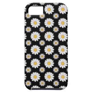 White Daisies on Black Background iPhone 5 Covers