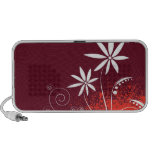 White Daisies on Red and Orange Speaker System