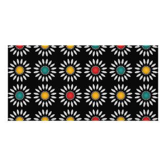 White daisies pattern card