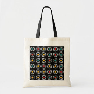 White daisies pattern tote bag