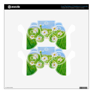 white daisies PS3 controller decal
