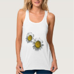 White Daisies Tank Top