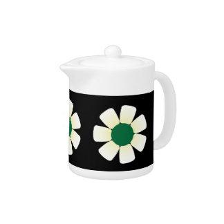White Daisies Teapot