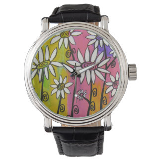 White Daisies Watch