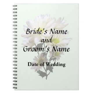 White Daisies Wedding Products Notebook