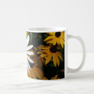 White Daisy and Blackeyed Susans Coffee Mug