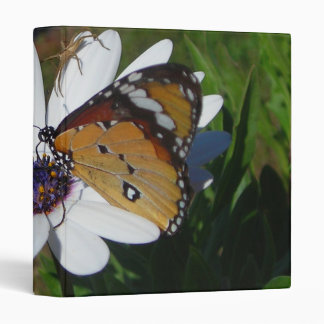 White Daisy and Butterfly Binder