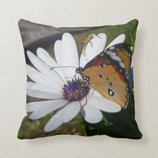 White Daisy and Butterfly Pillows