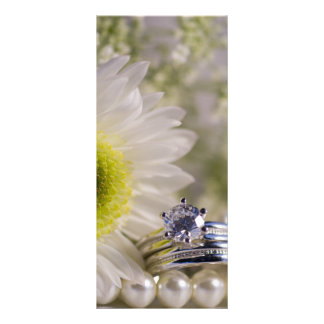 White Daisy and Diamond Wedding Rings Program